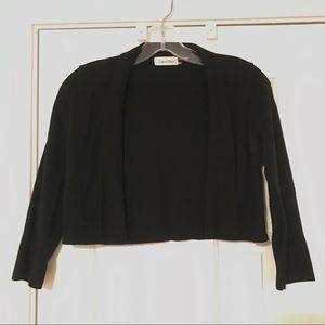 Calvin Klein: Black Cropped Cardigan